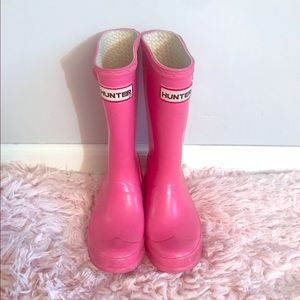 Pink hunter boots size 1